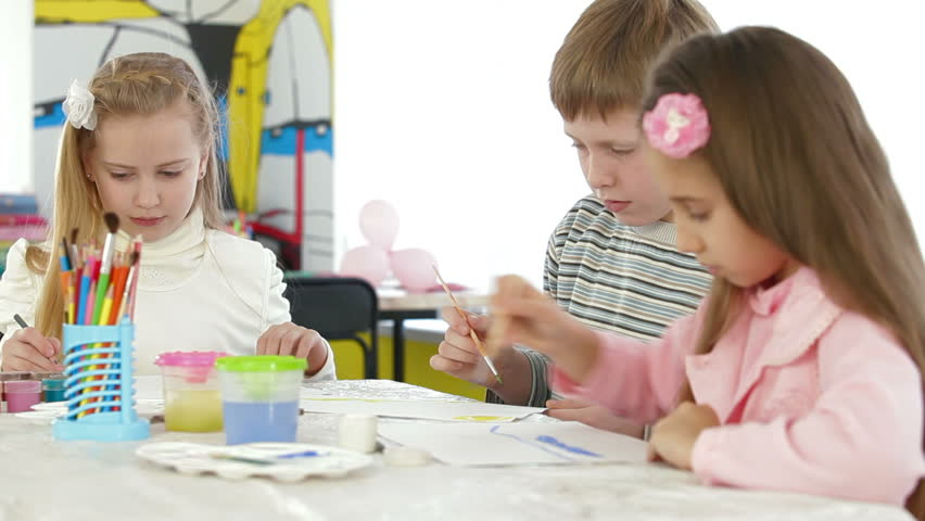 Children Painted Easter Eggs Stock Footage Video 3536798 ...