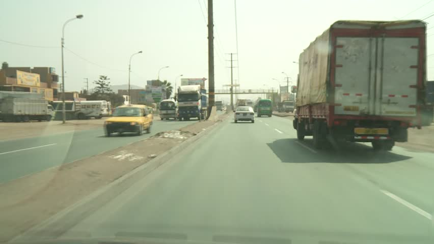 video footage of POV driving in Lima, Peru - HD stock footage clip