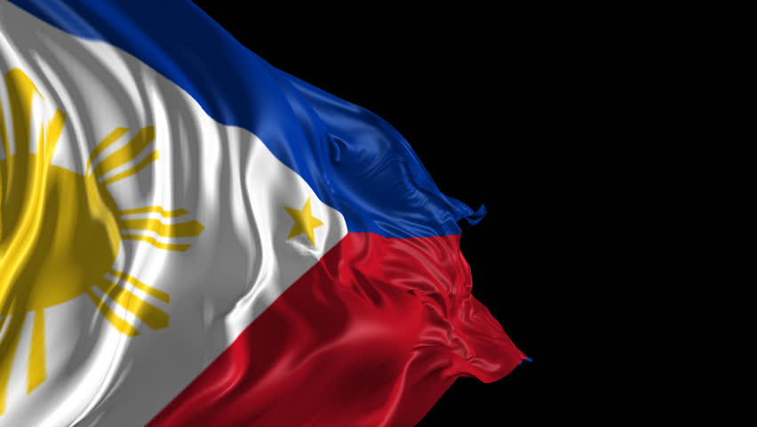 Flag of Philippines Beautiful 3d animation of The Flag of Philippines with alpha channel