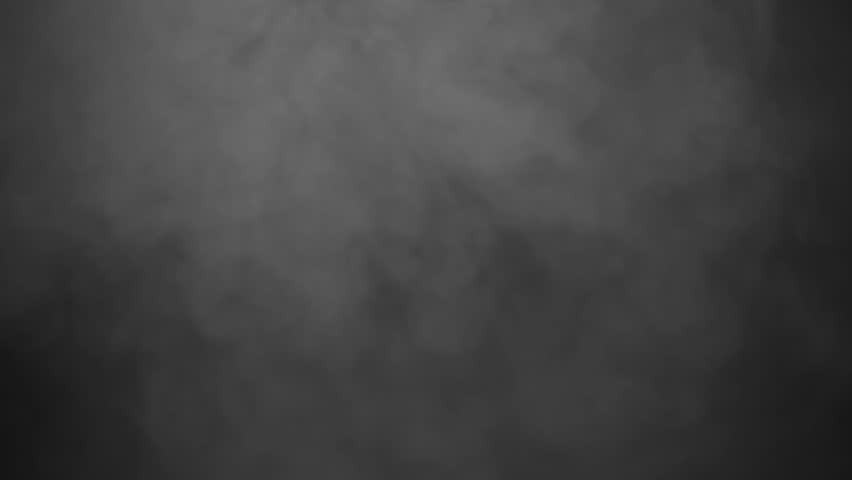 Thick Smoke Ambiance Effect Isolated on Black Background