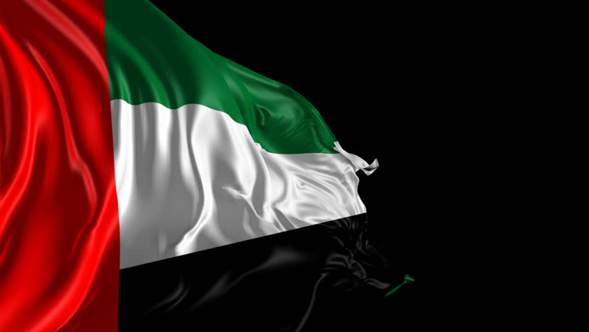 United arab emirates flag stock footage video shutterstock for 3d wallpaper for home uae