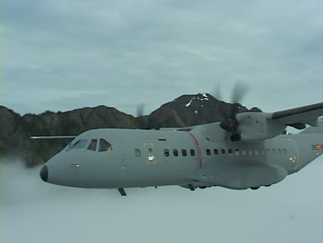 Alaska: Casa C-295 conducts test operations in Alaska 2004. Views from cockpit, tail cam, and fly bys. This is a very high performance aircraft.