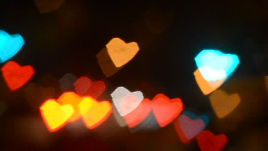 Bokeh Heart Shape Of Light Background Stock Footage Video: Heart Shaped Road Stock Footage Video 4623392