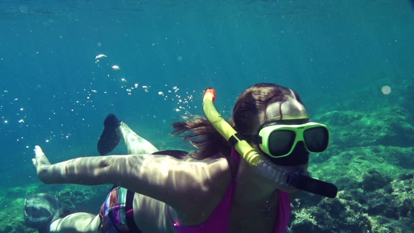 SLOW MOTION: Snorkeling in Adriatic sea