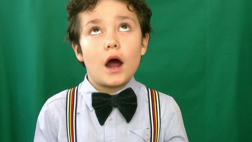 Child making funny faces at camera - HD stock video clip