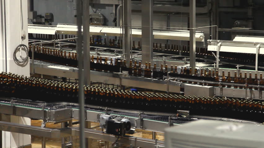Beer factory interior with a lot of machines - HD stock video clip