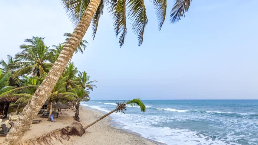 Beautiful tropical beach in Africa - HD stock video clip