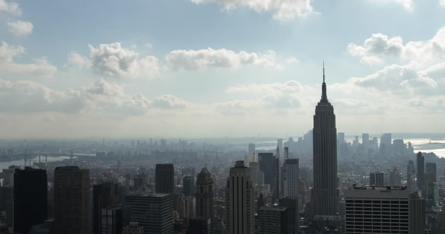 US - 4K Lapse Of The Empire State Building And Downtown Manhattan, New York, 2013