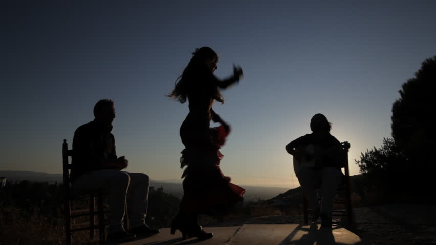 Flamenco singers and dancer in a performance at sunset in Spain | Shutterstock HD Video #5764673