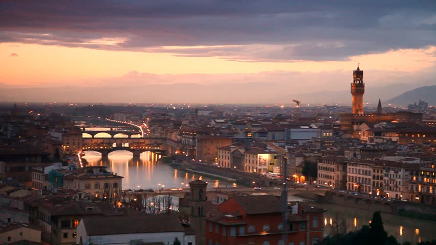 Florence after sunset. Italy | Shutterstock HD Video #5772458
