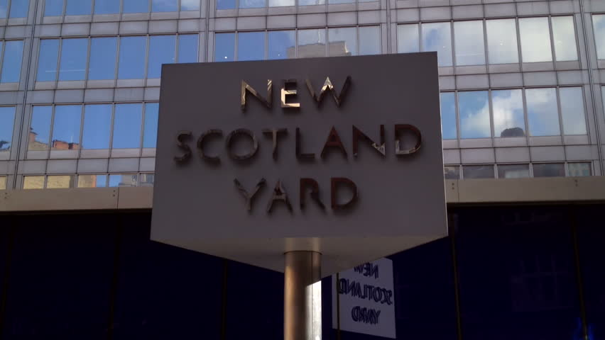 London - March 7th: The name New Scotland Yard comes from the Metropolitan Police Force HQ previous location in Whitehall which backed onto a yard called Great Scotland Yard. London, March 7th, 2014.