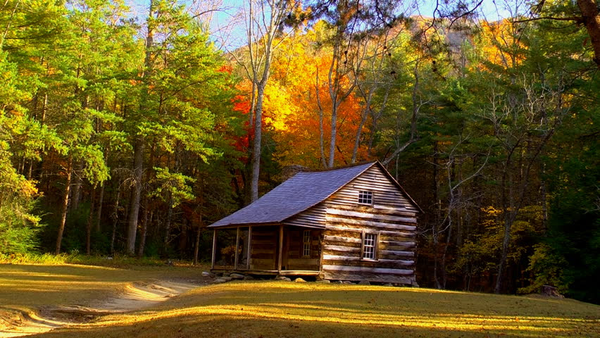 A Historic Cabin In Cades Cove Tennessee Located In The