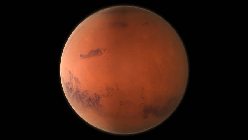 planet mars beautiful 3d animation of mars planet rotates