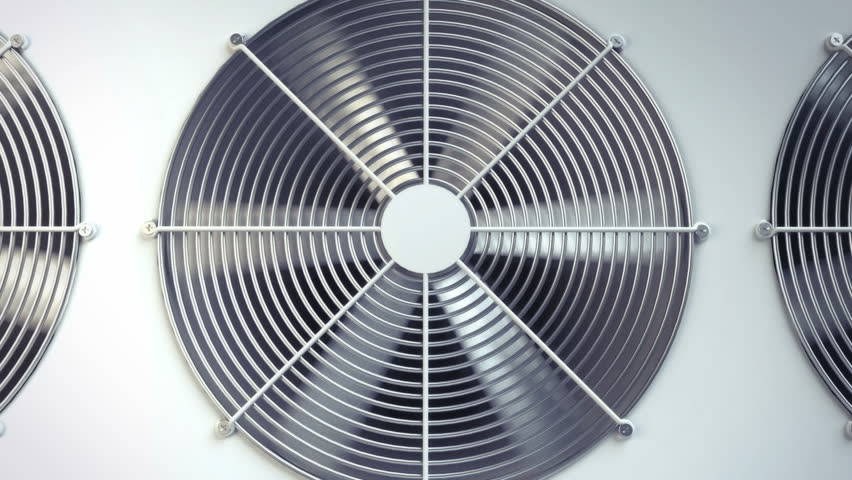Air Conditioning Fan Ventilation Animation Stock Footage