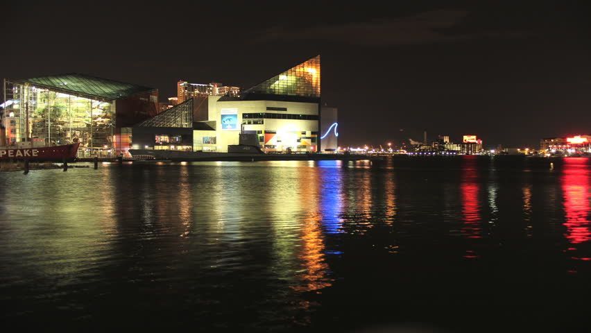 Baltimore, Maryland - March, 2012 - 4k time lapse of the National Aquarium in Baltimore, Maryland.