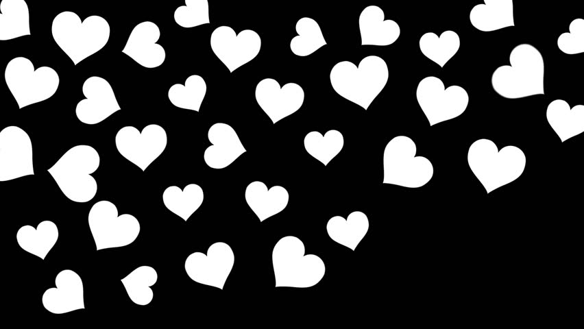 Black And White Love Heart Wallpaper : Black Background With White Hearts www.imgkid.com - The Image Kid Has It!