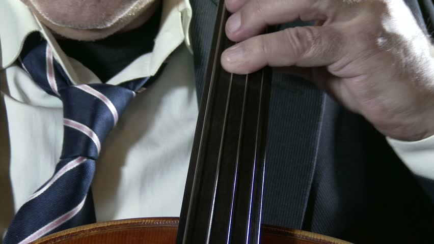 4K Professional Cellist with his Cello