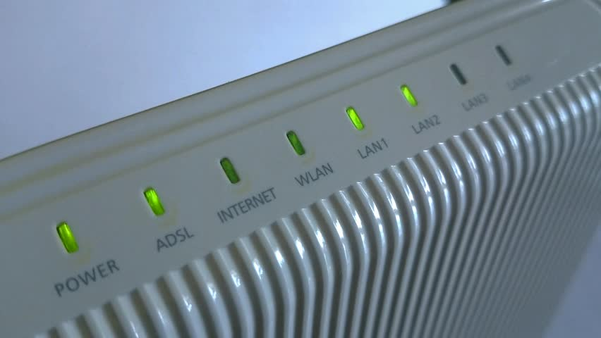 Blinking Modem And Router Lights High Definition Footage