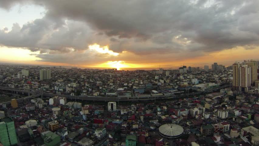 Sunset Time lapse of Manila Bay