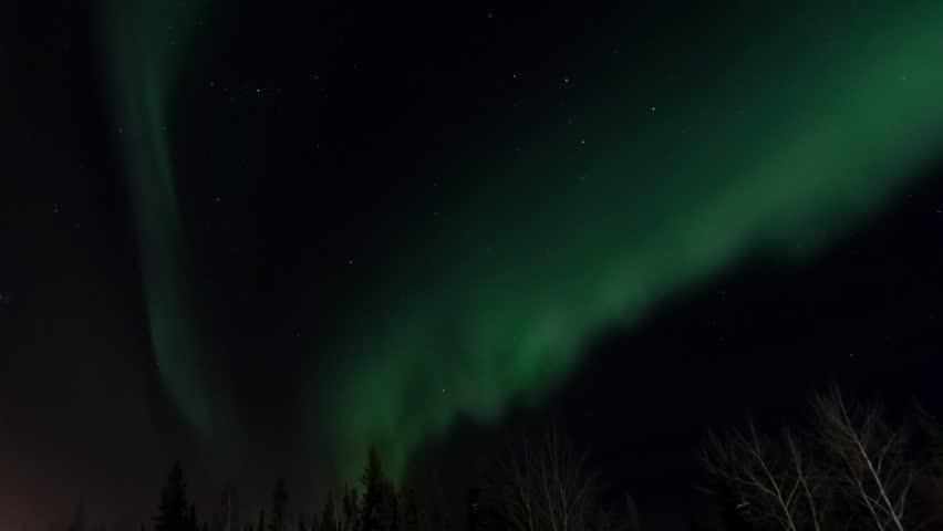 northern lights aurora polaris in norway in a timelapse