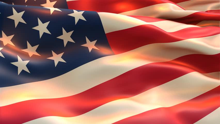 american flag stock footage video shutterstock. Black Bedroom Furniture Sets. Home Design Ideas