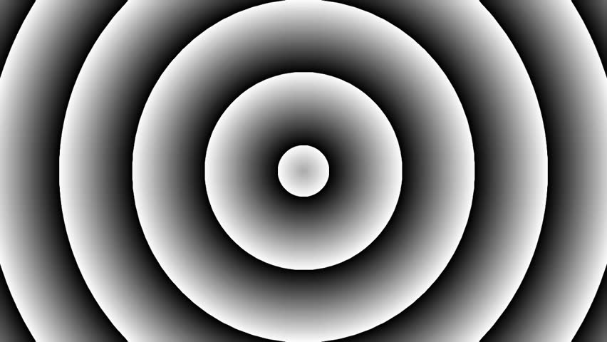 Loopable seamless cyclic animated sequence with expanding circles usual for presentations, movies, advertising etc. - HD stock video clip