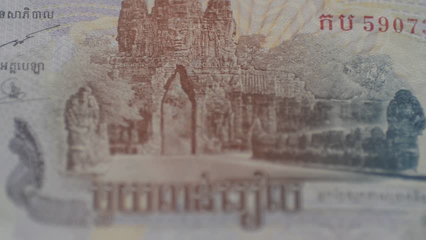 Riel, currency of Cambodia - HD stock video clip