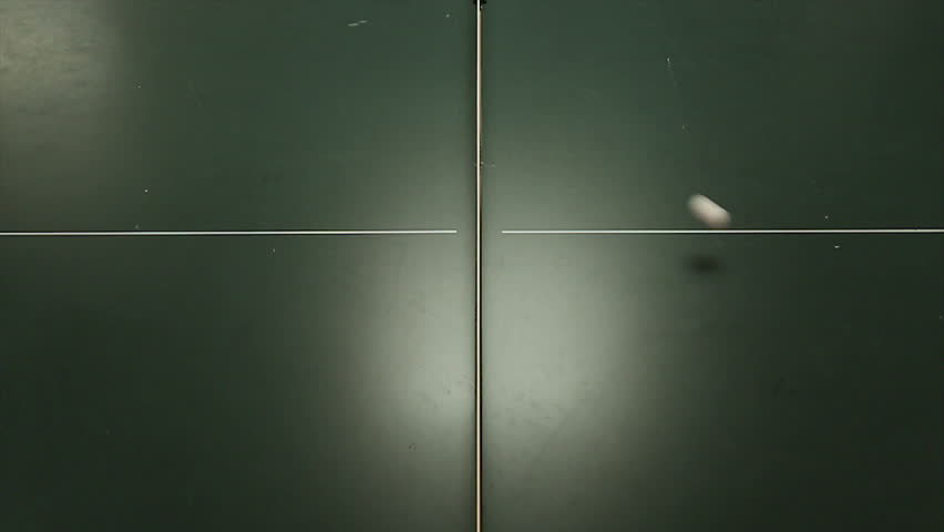 The Ball On The Table Tennis Table Hd 00 18 Slo Motion Ping Pong Serve