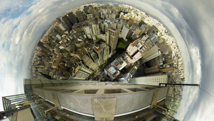 Sao Paulo Brazil skyline video panorama time lapse