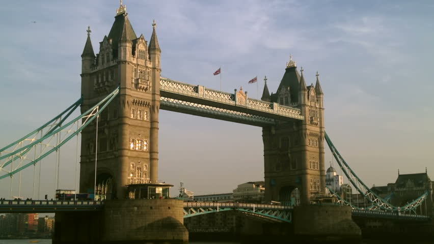 Tower Bridge in London, taking its name from the nearby Tower of London was completed in 1894.