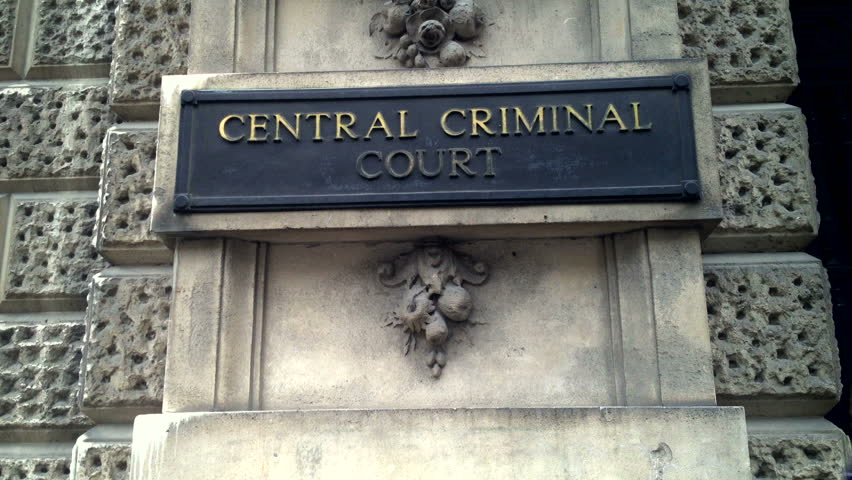 London - 21st March:  The Central Criminal Court in London is often referred to as the Old Bailey - the name of the street where it resides. London - March 21st, 2014.
