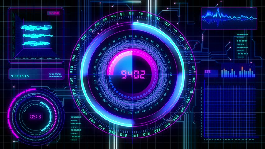 Futuristic Technological Interface Background, Seamless ...