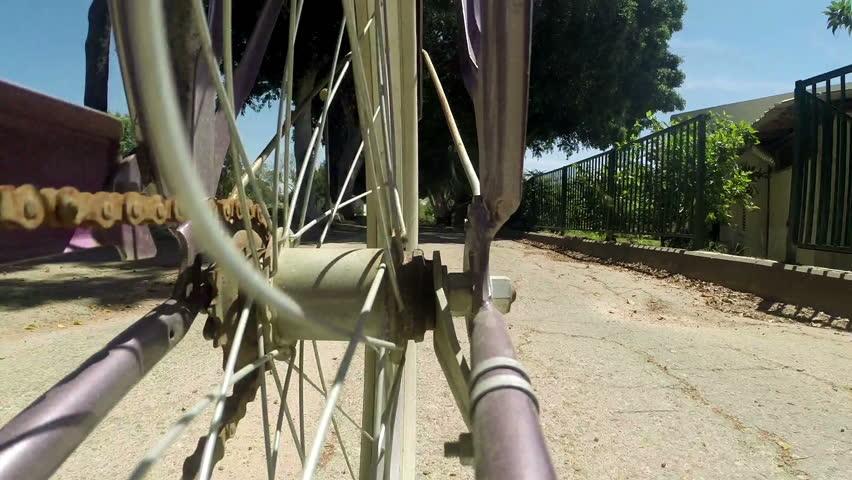 Bicycle wheel, Detail view
