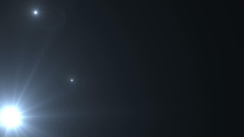 Flash Lights Lens Flares. - 4K stock footage clip