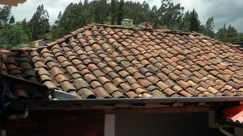 Cuenca Ecuador Apr 2014 Old Red Tile Roof Aka