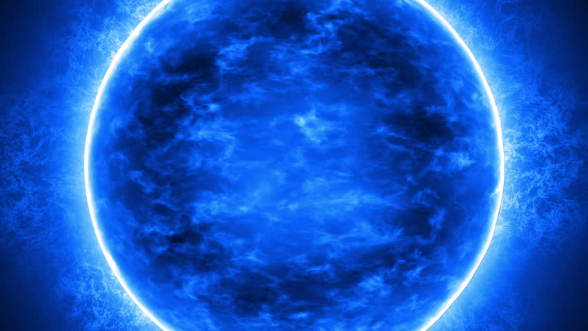 A large blue star, in detail zooms to fill the screen.