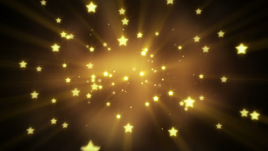 Gold star shapes flying. computer generated seamless loop abstract motion background  | Shutterstock HD Video #6172688