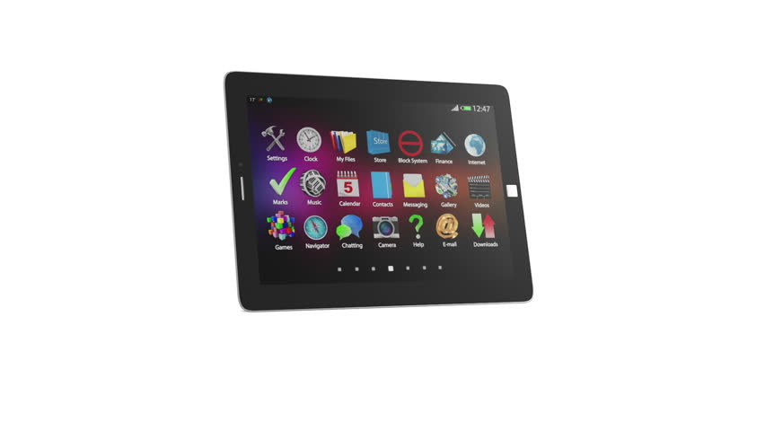 Animation of Modern Tablet PC. HQ Video Clip