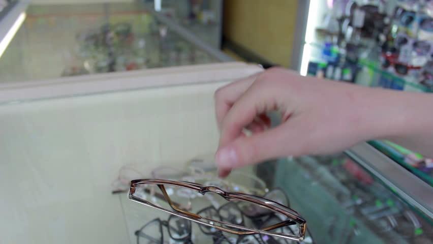 In Eyeglass store