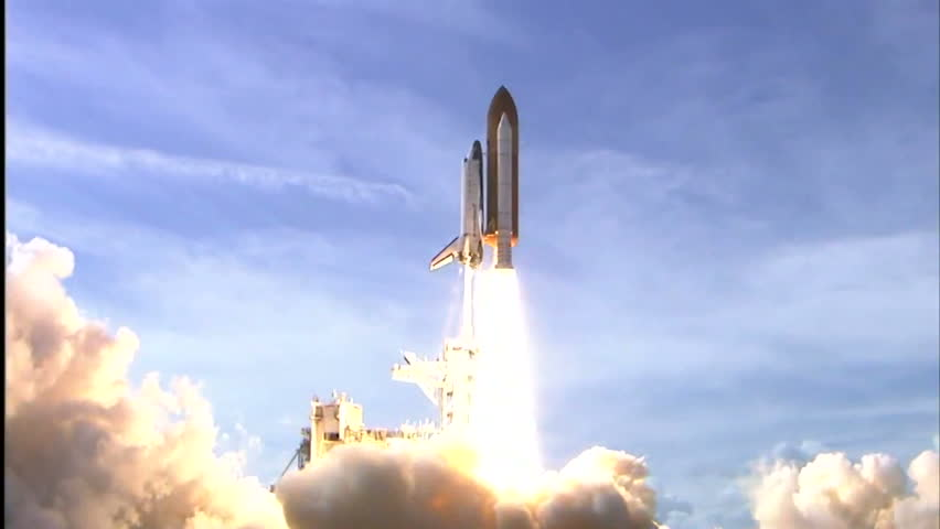CIRCA 2010s - The Space Shuttle Atlantis launches. | Shutterstock HD Video #6228677