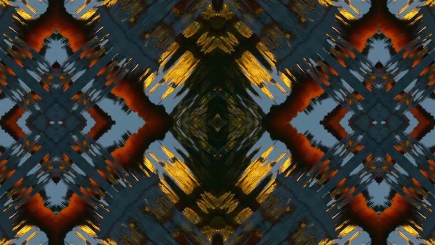 Beautiful Asia Chinese Oriental traditional pattern.four consecutive fractal kaleidoscope art. gh2_04755   Shutterstock HD Video #6247712