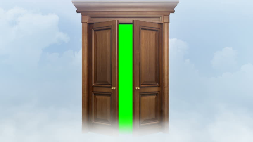 Door opening with chroma key. Two animations + chroma key and trackers. Door for transition to new video.