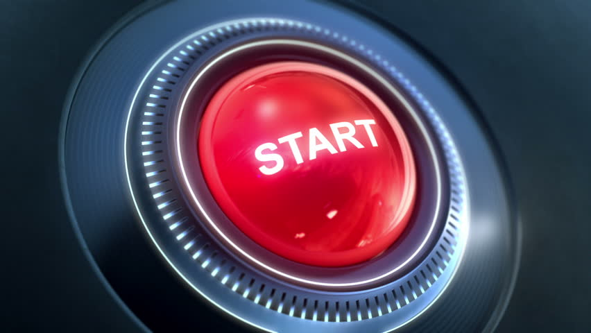 Start Button On / Off . Two high quality animation of