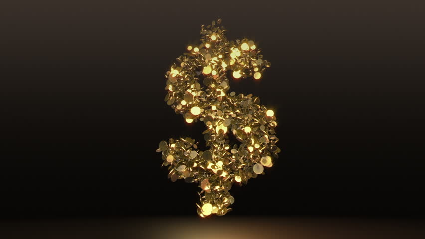 dollar sign falling alpha two animations simulate
