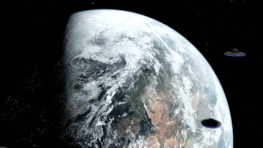 UFOs head towards Earth