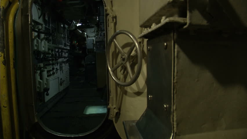 Inside view of an Italian old submarine