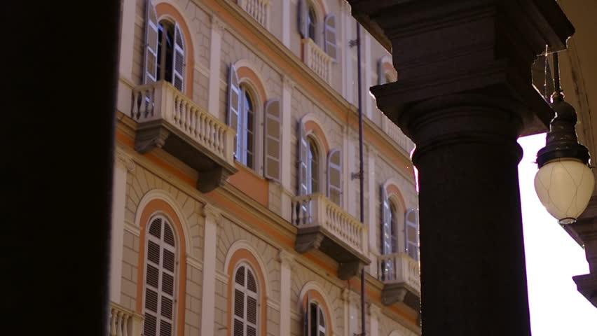 Backlight from Italian Arcade in Turin, Italy
