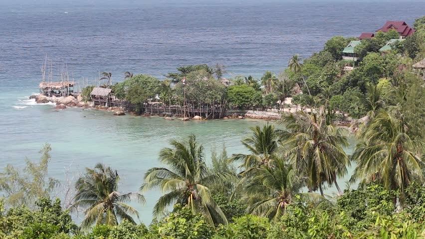 Tropical island Koh Phangan, Thailand. Top view. | Shutterstock HD Video #6298058