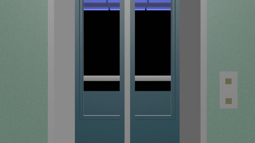 Cartoon Glass Door