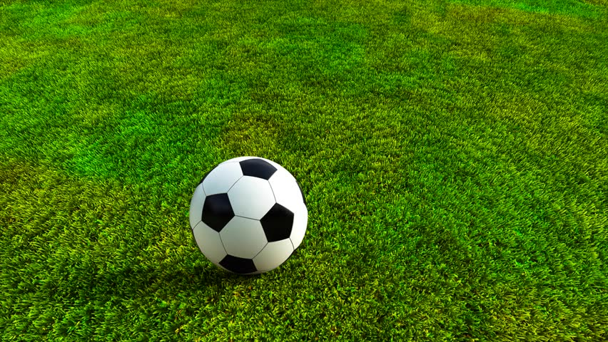 Soccer Ball Rolling On Grass Stock Footage Video 6360152 ... Rolling Soccer Ball Picture